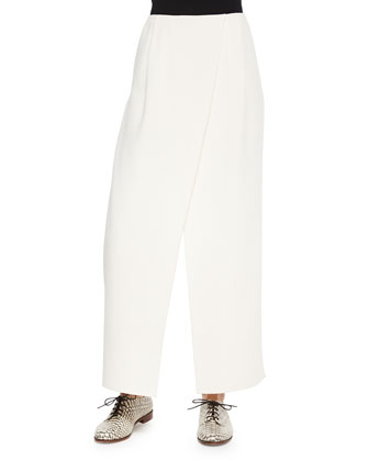 Priscilla Wide-Leg Wrap Pants