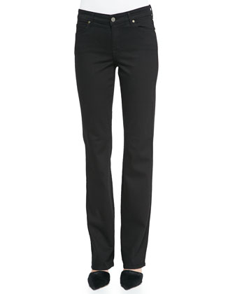 Faith Straight-Leg Jeans, Black