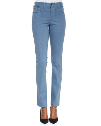 Samantha High-Rise Slim Sateen Jeans