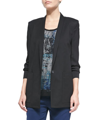 Cove Long Straight Suit Blazer