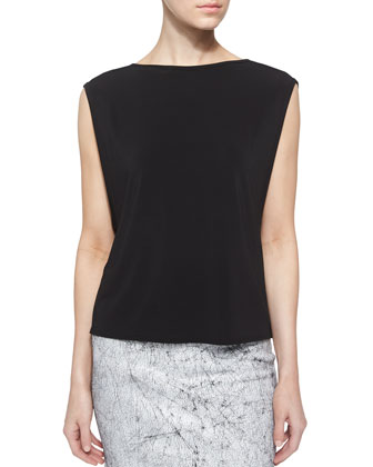 Faint Layering Top, Black