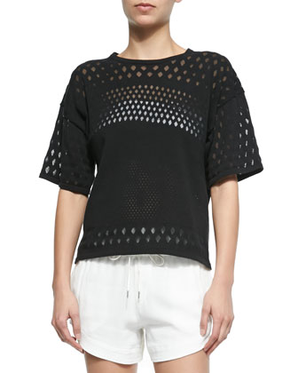 Burnout-Pattern Boxy Top