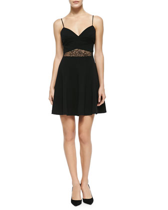 Alexandra Lace-Inset A-Line Dress