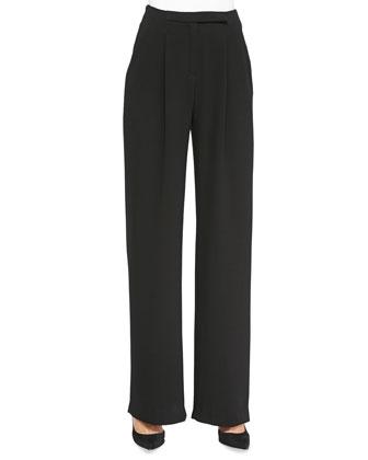 Nicholson Pleated Wide-Leg Trousers