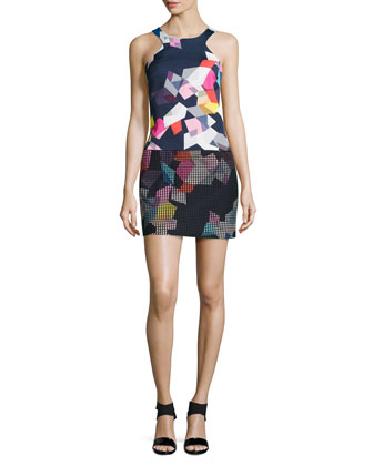 Aptos Graphic-Print Drop-Waist Dress