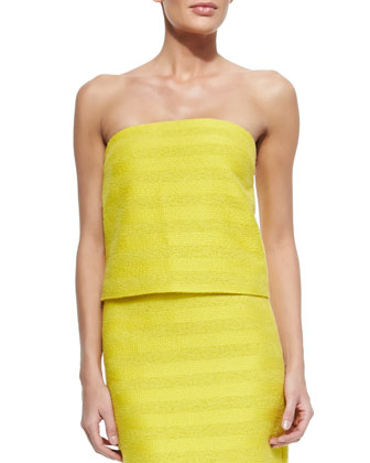Johannah Woven Bandeau Top & Dorris Striped Pencil Skirt