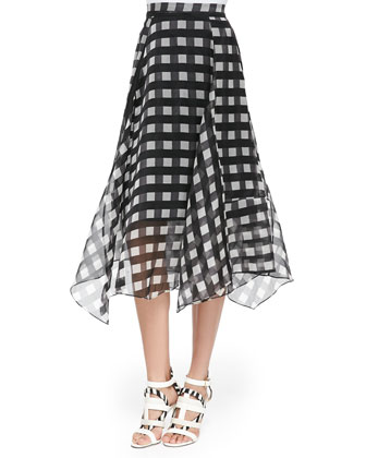 Nate Printed Cropped Shell & Yasmin Printed Handkerchief-Hem Skirt