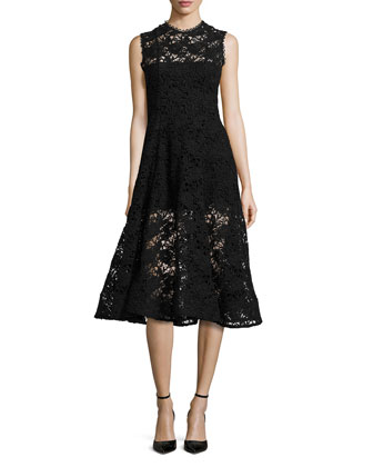 Derek Sleeveless A-Line Lace Dress