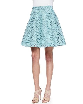 Edi Floral-Lace Full Skirt