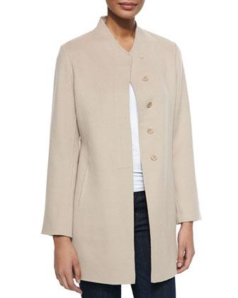 Double-Woven Cashmere Coat