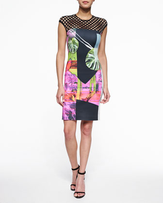 Painted Garden Cutout-Top Dress