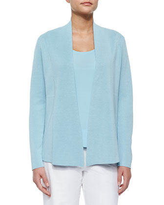 Silk Cotton Interlock Jacket, Capri, Women's