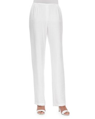 Cabo Knit Straight-Leg Pants