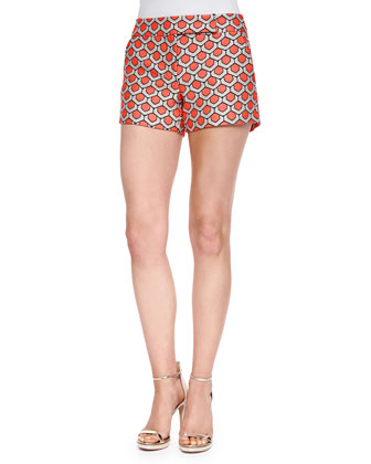 Dot Jacquard Short Shorts