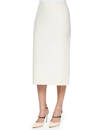 Half-Sleeve Cropped Top & Priscilla Stretch Pencil Skirt