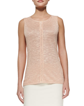 Divine Stretch Claudette Snap Top, Botanico Linen-Blend Shell, U-Shaped ...