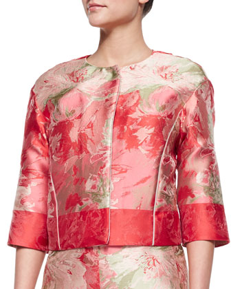 Amy Floral Boxy Jacket