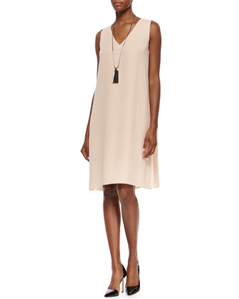 Vaughn Side-Pleated A-line Dress