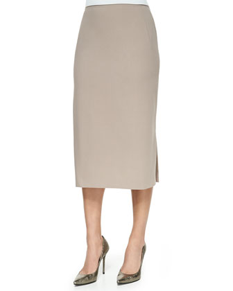 Priscilla Stretch Pencil Skirt, Raffia