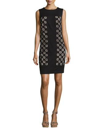 Laser-Cut Ponte Dress