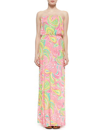 Marlisa Strapless Printed Maxi Dress