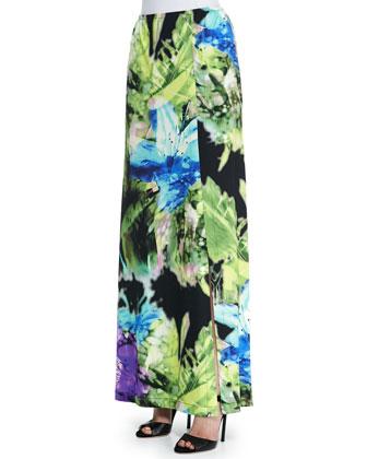 Island Flower Maxi Skirt
