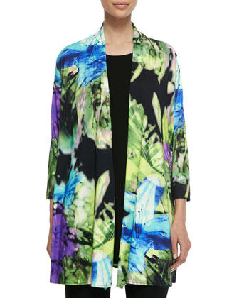 Island Flower Long Cardigan, Women's