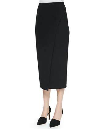 Riyadh Sleeveless Knit Top & Calf-Length Faux-Wrap Skirt