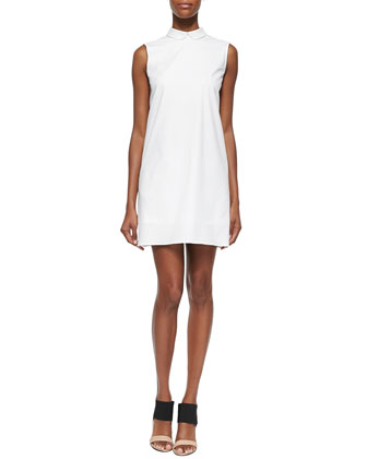 David Sleeveless Collared Twill Dress