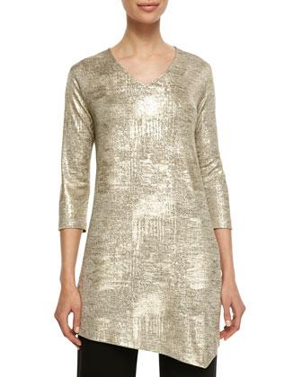 Luminous Jersey Asymmetric Tunic, Women's