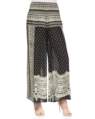 Sahara Smoke Mixed-Print Culottes