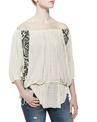 Off-the-Shoulder Butterfly Tunic