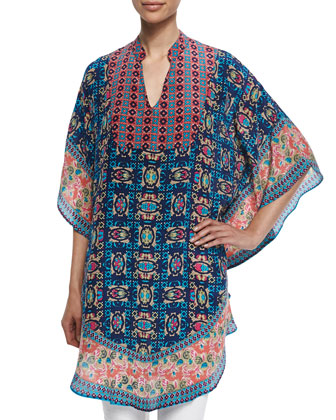 Belle Printed Long Tunic, Women's