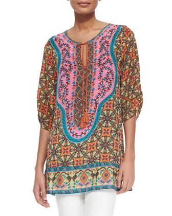 Marina Long Printed Tunic, Women's