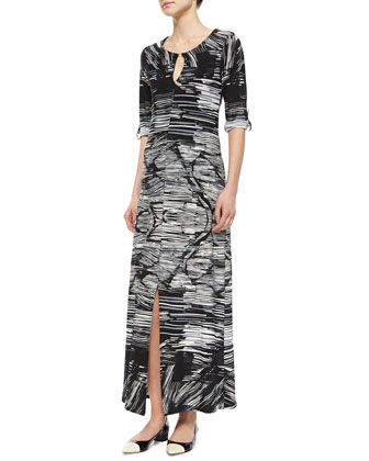 Horizon Striped Jersey Maxi Dress