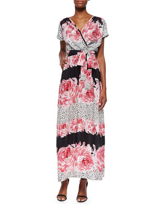 Floral-Print Silk-Blend Tie-Waist Dress