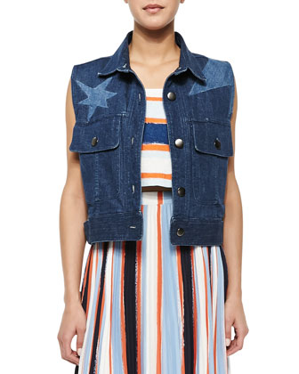 Calvin Denim Star Vest