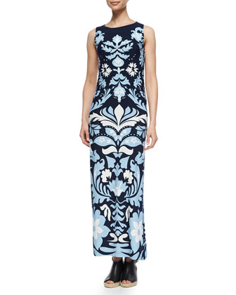 Luxe Long Sleeveless Dress, Women's