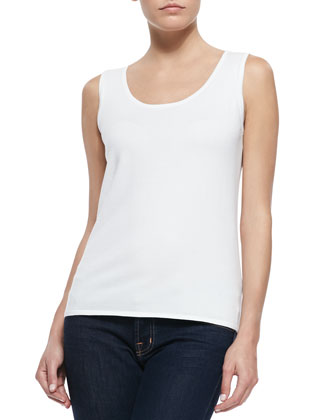 Pima Cotton Scoop-Neck Tank