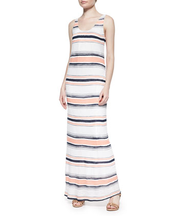 Zanzibar Striped Sleeveless Maxi Dress