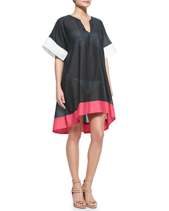 parrot cay tunic coverup dress