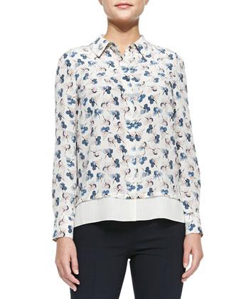 Madison V-Neck Button-Front Cardigan, Pamela Floral-Print Shirt & Callie ...