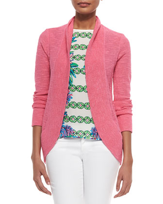 Amalie Long-Sleeve Open Cardigan