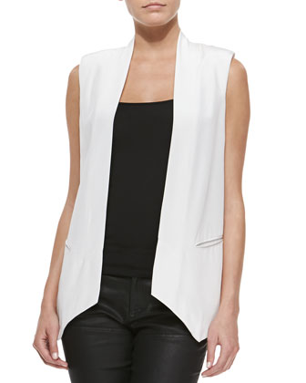Kenny Long Vest with Asymmetric Hem