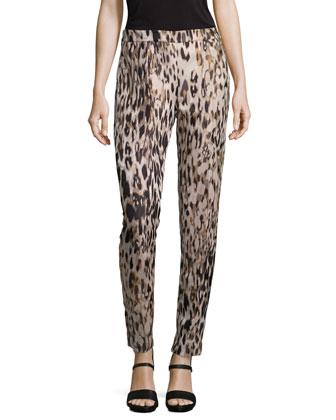 Animal Jacquard Skinny Pants