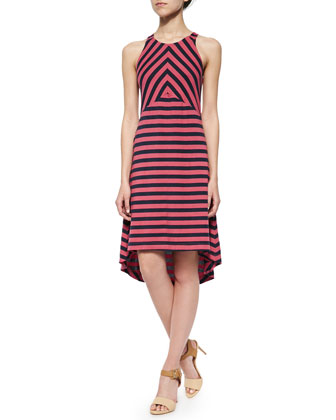 Sienna Sleeveless Striped Racerback Dress