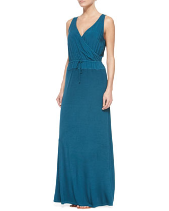 Marlin Sleeveless V Neck Maxi Dress