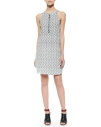 Zebra-Print Dress with Shirttail Hem