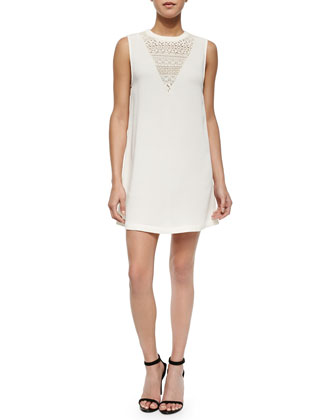 Venus Sleeveless Knit & Lace Dress