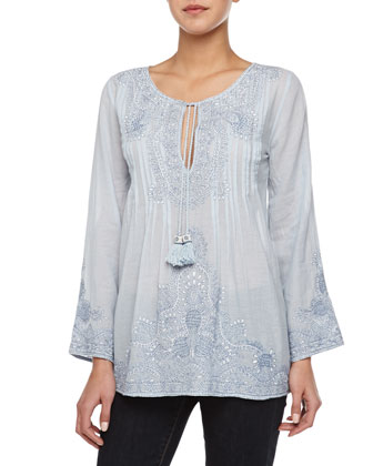Kabri Embroidered Long-Sleeve Tunic